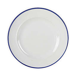 Our Table™ Simply White Blue Rim Dinner Plate