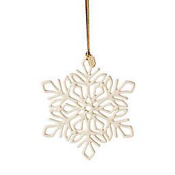 Lenox® 2021 Snow Fantasies Snowflake Porcelain Christmas Ornament in White