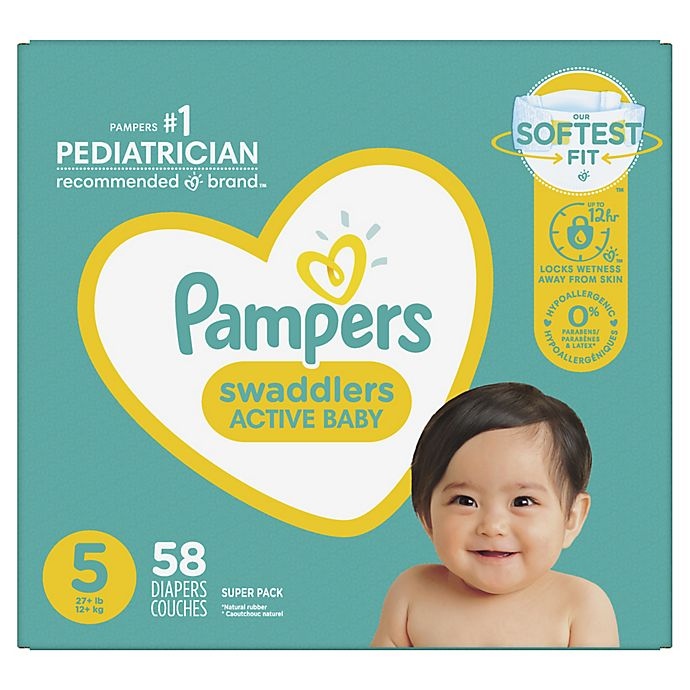 Alternate image 1 for Pampers® Swaddlers™ 58-Count Size 5 Super Pack Diapers