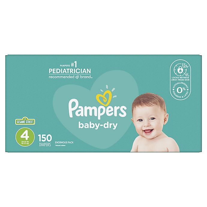Alternate image 1 for Pampers® Baby Dry™ 150-Count Size 4 Pack Disposable Diapers