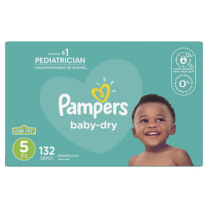 Alternate image 1 for Pampers® Baby Dry™ 132-Count Size 5 Pack Disposable Diapers