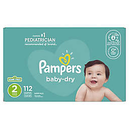 Pampers® Baby-Dry 112-Count Size 2 Disposable Super Pack  Diapers