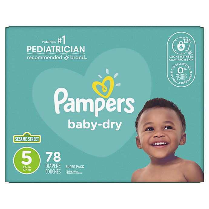 Alternate image 1 for Pampers® Baby Dry™ 78-Count Size 5 Super Pack Disposable Diapers
