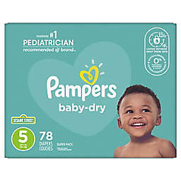 Pampers® Baby Dry™ 78-Count Size 5 Super Pack Disposable Diapers