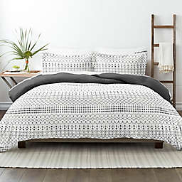 Home Collection iEnjoy Home Etched 3-Piece Reversible King/California King Duvet Cover Set