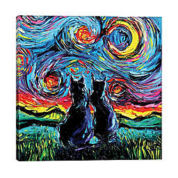 iCanvas Aja Trier Van Gogh's Cats 18-Inch x 18-Inch Wrapped Canvas Wall Art