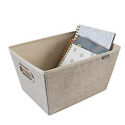 Simplify Medium Grommet Storage Bin in Beige