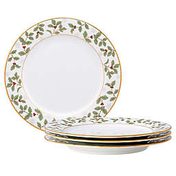Noritake™ Holly Berry Christmas Salad Plates (Set of 4)