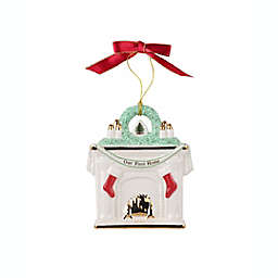 """Spode® 3-inch """"Our First Home"""" Fireplace Christmas Ornament"""