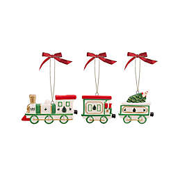 Spode® 3-Piece Christmas Tree Train Ornaments Set in Green