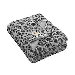 UGG® Polar Faux Fur Throw Blanket in Grey Leopard