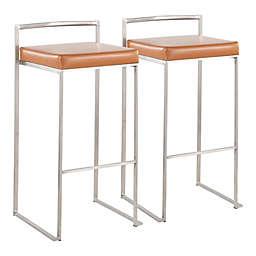 LumiSource® Fuji Stackable Bar Stools in Camel