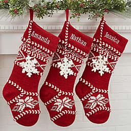 Fair Isle Personalized Christmas Knit Stocking