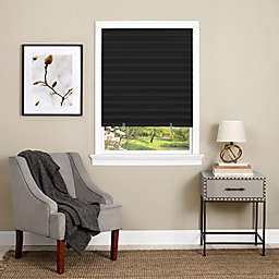 MyHome 1-2-3 Room Darkening Cordless 48-Inch x 75-Inch Pleated Shade in Black