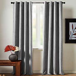 Studio 3B™ Chenille Grommet 100% Black Out Window Curtain Panel in Grey (Single)