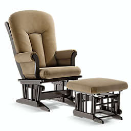 Dutailier® Alice Locking and Reclining Glider in Espresso with Ottoman