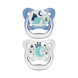 Dr. Brown's® PreVent® Stage 2 2-Pack Glow in the Dark Orthodontic Pacifiers