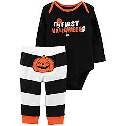 carter's® 2-Piece Halloween Stripes Bodysuit and Pant Set in Black