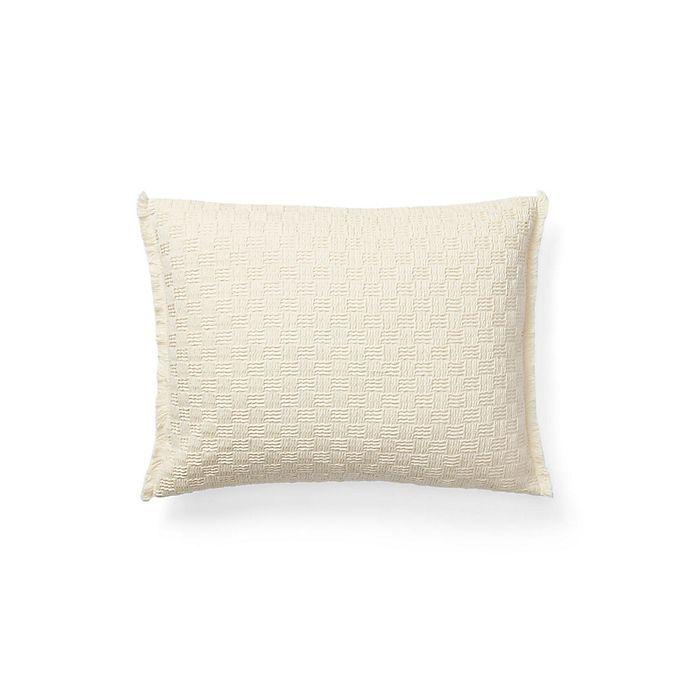 Alternate image 1 for Lauren Ralph Lauren Callen Basketweave Oblong Throw Pillow in Cream