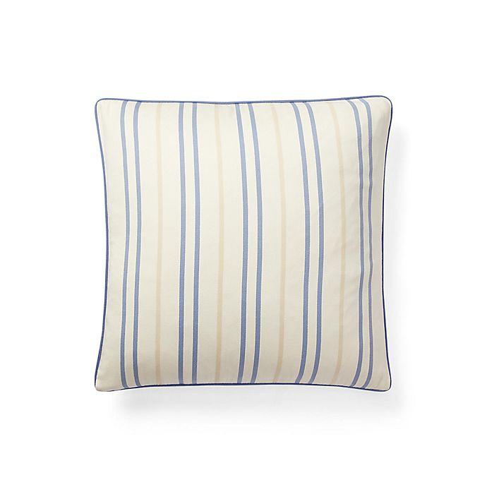 Alternate image 1 for Lauren Ralph Lauren Callen Square Throw Pillow in Cream/Blue