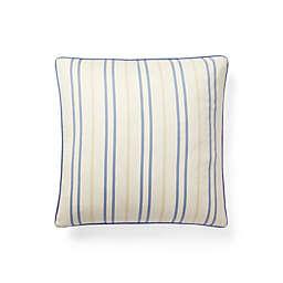 Lauren Ralph Lauren Callen Stripe Square Throw Pillow in Cream/Blue