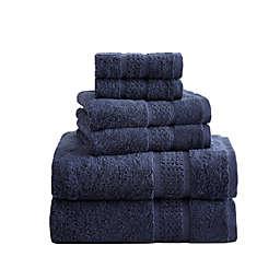 Nautica® Oceane Solid 6-Piece Towel Set in Navy