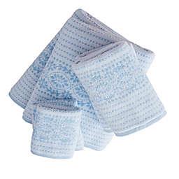 Forever Eyelet White/Blue 6 Piece Towel Set