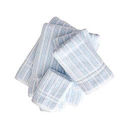 Sienna Blue/Snow 6 Piece Towel Set