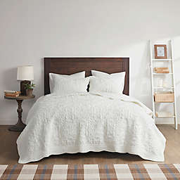 Madison Park® Aster Embroidered Faux Fur Coverlet Set