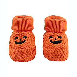 carter's® Newborn Halloween Pumpkin Knitted Booties in Orange