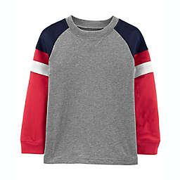 carter's® Size 4T Colorblock Jersey Long Sleeve Tee in Grey/Multi