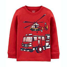 carter's® Firetruck Jersey Tee in Red