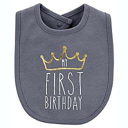 carter's® First Birthday Teething Bib in Green