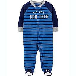 carter's® Little Brother Zip-Up Fleece Sleep & Play in Navy