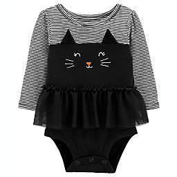 carter's® Halloween Cat Bodysuit with Attached Tutu in Black