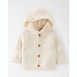 carter's® Organic Cotton Seed Stitch Hooded Cardigan Sweater