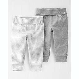 carter's® 2-Pack Organic Cotton Grow-With-Me Pants in Charcoal/Grey