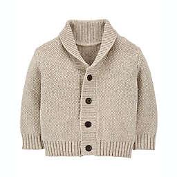 OshKosh B'gosh® Size 6M Shawl Collar Cardigan Sweater in Ivory