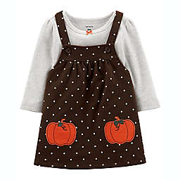 carter's® Size 6M 2-Piece Thanksgiving Bodysuit and Jumper Set in Brown