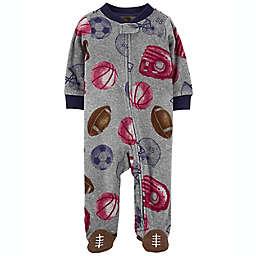 carter's® Sports Zip-Up Fleece Sleep & Play in Grey