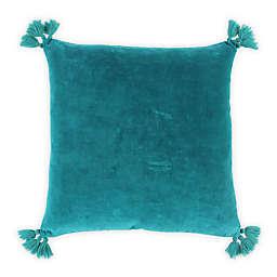 Wild Sage™ Square Velvet Throw Pillow in Fanfare