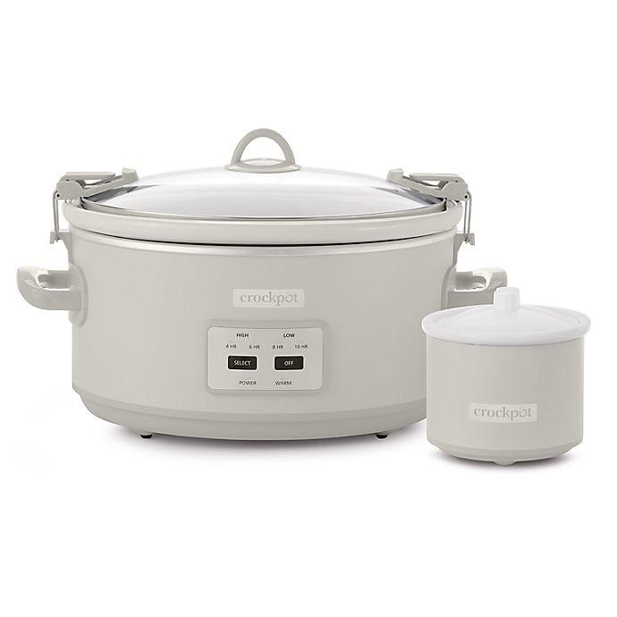 Alternate image 1 for Crockpot™ Design Series Cook & Carry 7 qt. Slow Cooker in Mushroom