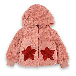 Sovereign Code® Size 3-6M Kirby Star Pocket Faux Fur Coat in Rose