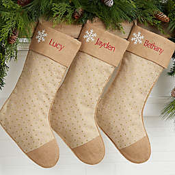 Rustic Luxe Personalized Christmas Stockings