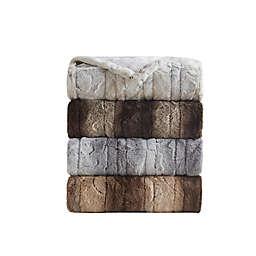 Beautyrest Zuri Faux Fur Heated Wrap