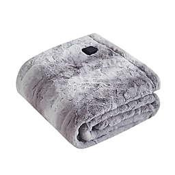 Beautyrest Zuri Faux Fur Heated Wrap in Grey