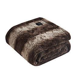 Beautyrest Zuri Faux Fur Heated Wrap in Brown