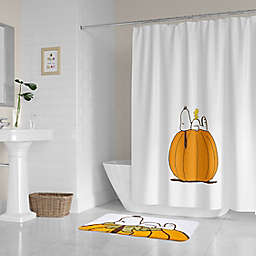 PEANUTS® 72-Inch x 72-Inch Autumn Pumpkins Shower Curtain