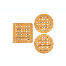 Simply Essential™ Bamboo Trivets (Set of 3)