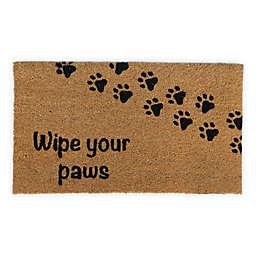 "Simply Essential™ 16"" x 28"" Pet Paw Home Coir Door Mat in Natural"